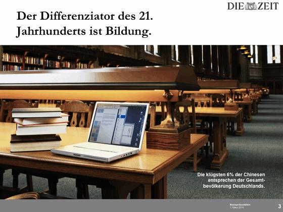 die zeit campus und magazine b2b produktpräsentation